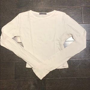 white Brandy Melville long sleeve shirt
